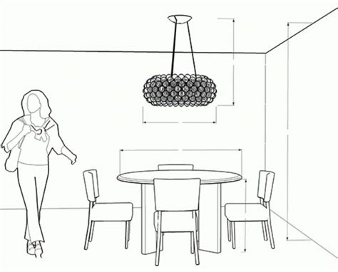 dining room light height image for tabledining from