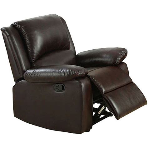 recliners walmart oxford brown recliner chair walmart com