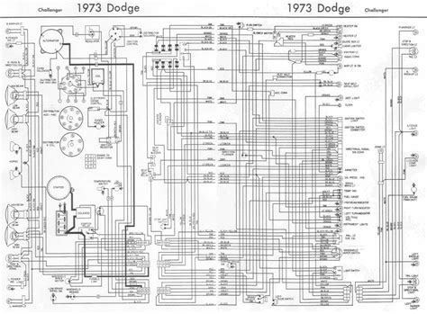 Dodge Charger Wiring Harnes Diagram by Dodge Challenger 1973 Complete Wiring Diagram All About