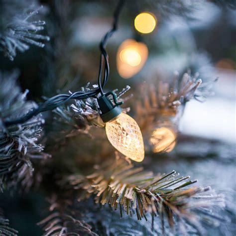 warm white pinecone christmas lights by lights4fun