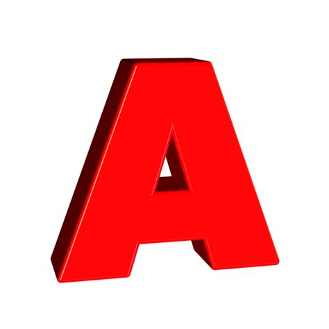 letter a png free illustration alphabet letter character 3d free 37457
