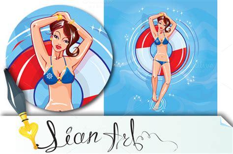 Sweet Lexie Blue Bikini