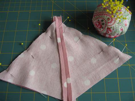 pyramid doorstop tutorial bake  sew