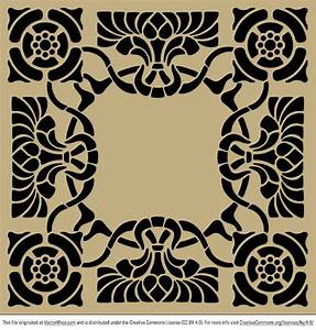Art nouveau stencil pattern - Free Vector Art