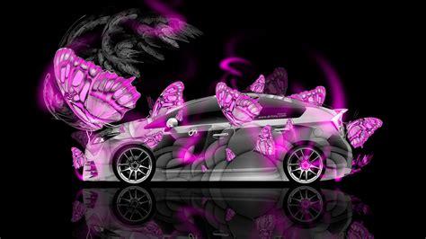 toyota prius hybrid fantasy butterfly neon car  el tony
