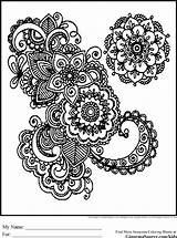Coloring Pages Intricate Swirl Geometric Difficult sketch template