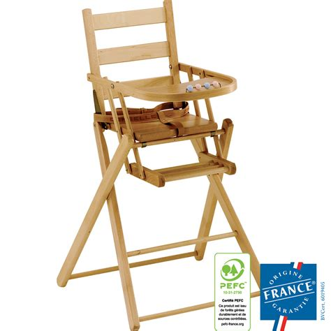 chaise combelle chaise haute bébé pliante dossier lattes galbees