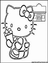 Popcorn Coloring Pages Hellokitty Template National Sketches sketch template