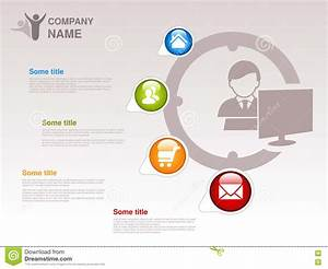 Profile Of Company. Infographic Template. Symbol Of ...