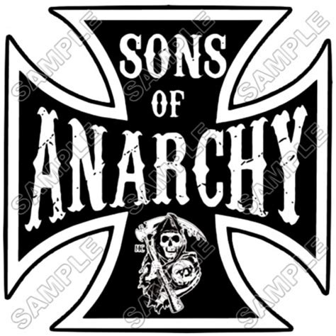 personalized iron  transfers sons  anarchy  shirt