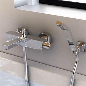 robinet mitigeur bain mural nova et douchette With robinetterie murale salle de bain