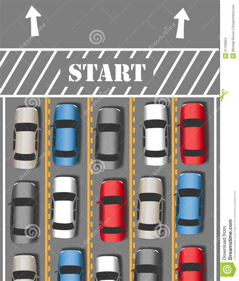 Cars Start Travel Traffic Trip Stock Images