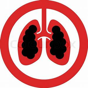 No Smoking Sign With Lung Cancer Concept In Vector
