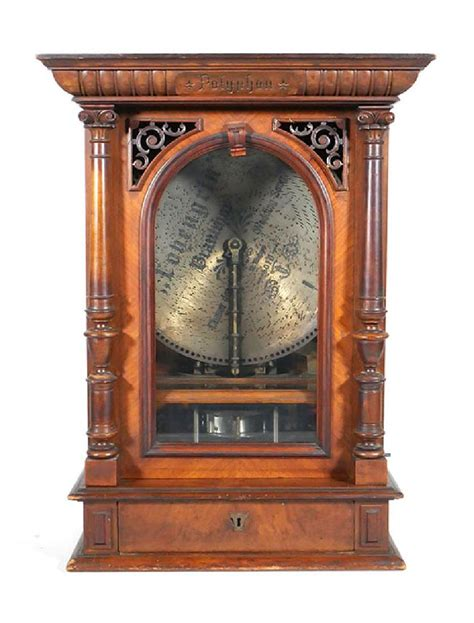Our collectible antique music boxes range from regina disk music boxes to cylinder & orchestrion musical players & more. Polyphon Music Box & 48 Discs Coin Operated - Antique ...