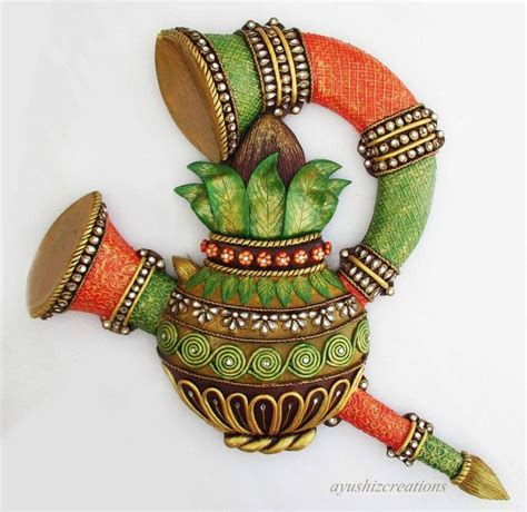 kalash clay art projects coconut shell crafts clay crafts