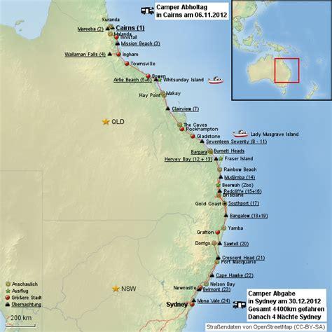 ostkueste   von sunny landkarte fuer australien