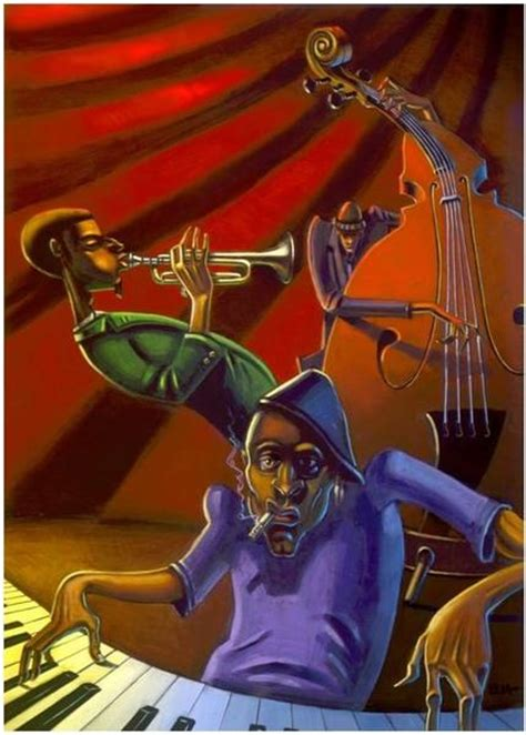 jazz trio  giclee  canvas justin bua
