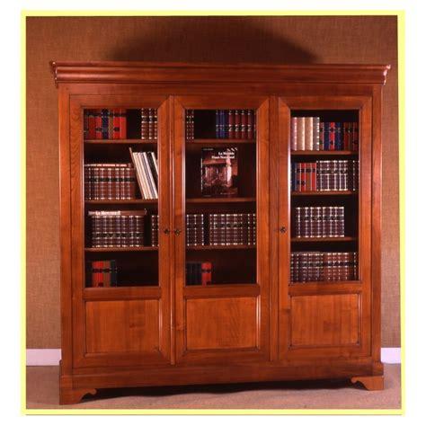armoire lit avec canapé bibliothèque 3 portes valérie i en merisier meubles de