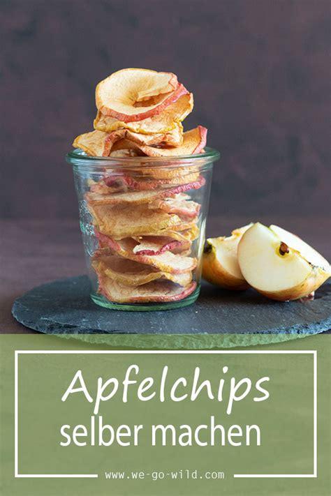apfelringe selber machen apfelchips selber machen knusprige apfelringe aus dem ofen