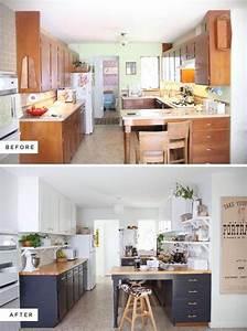 Cuisine Avant Après : 10 fa ons de transformer ses armoires de cuisine sans les ~ Voncanada.com Idées de Décoration