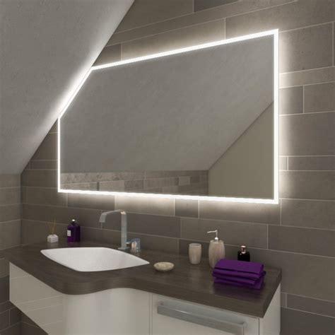 Das Badezimmer Unterm Dach Individuelle Loesungen by Namek Led Badspiegel Mit Dachschr 228 Ge Kaufen Spiegel21