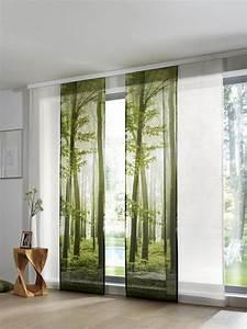 Vorhang Für Terrassentür : heine home schiebevorhang mit waldmotiv b ro versch nern ~ Watch28wear.com Haus und Dekorationen
