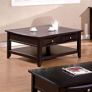 arther casual dark brown beveled square coffee table with With dark brown coffee table with drawers
