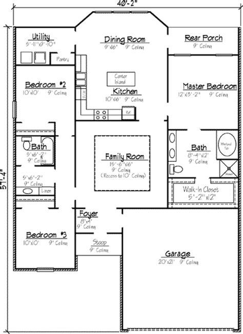 louisiana style garden home plan kb st floor