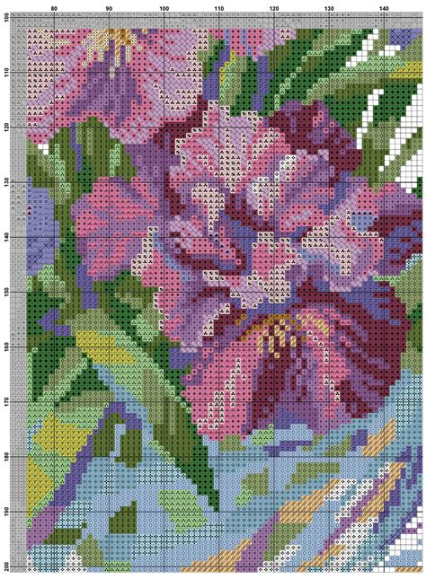 cross stitch pattern irises diy  ideas