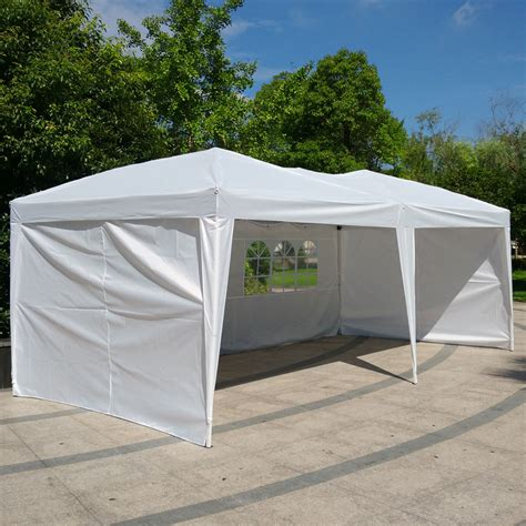 tent    palm springs pop  white canopy gazebo party tent   side walls