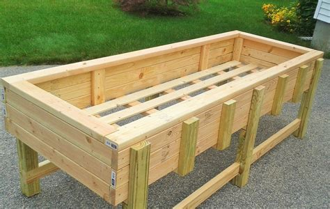 elevated garden beds on legs raised planter box with