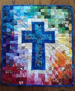 Christian Cross Quilt Pattern Watercolor