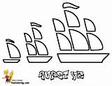 Pirate Coloring Ship Ships Pages Sailing Yescoloring Seas Boys Pirates sketch template