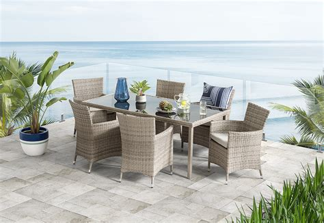barbosa  piece outdoor setting amart furniture