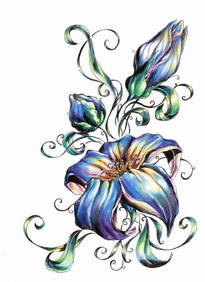 Flower Flowers Tattoos Designs Tribal Tattoo Clipart