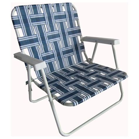 Lawn Chairs At Walmart by Mainstays Height Web Chair Blue Stripe Patio