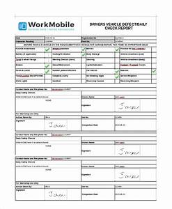 free vehicle check report vehicle ideas With defect checklist template