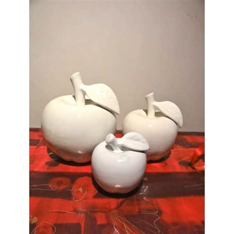 pomme c 233 ramique blanche arqitecture espace feng shui objets de d 233 coration mobilier et cadeaux