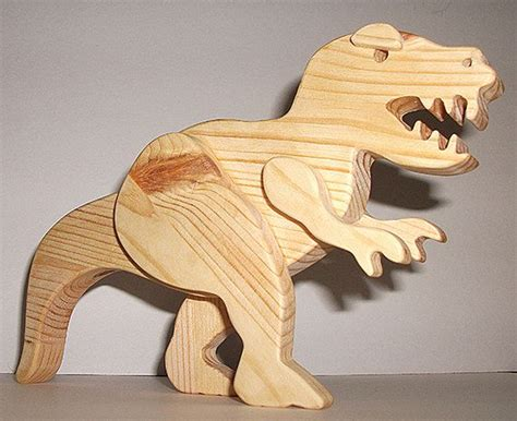 wooden dinosaur tyrannosaurus rex prehistoric by