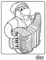 Penguin Club Coloring Accordion Stuff Test Cool Petey Issue Times Honest Player sketch template