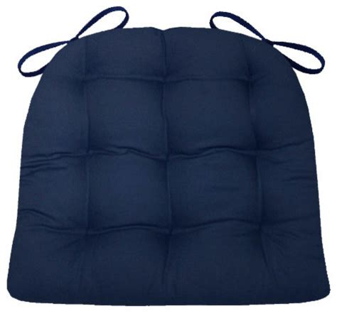 cotton duck navy blue chair pad with foam fill