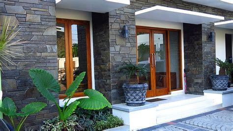 model teras rumah minimalis batu alam  rumah