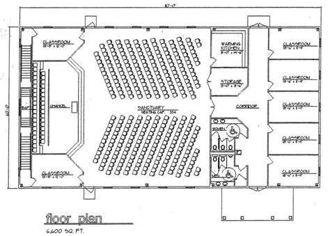 church floor plans free church plan 124 lth steel structures