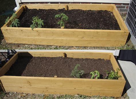 above ground garden beds safe finish raised garden bed