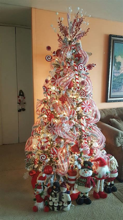 candy cane christmas tree ideas  pinterest