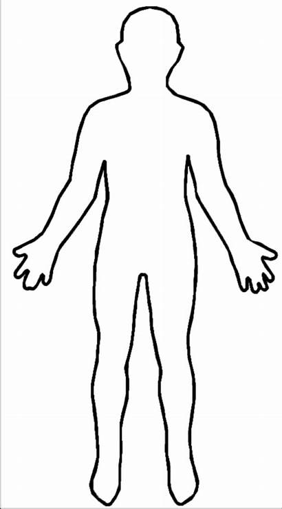 Outline Cartoon Human Sketch Children Blank Template
