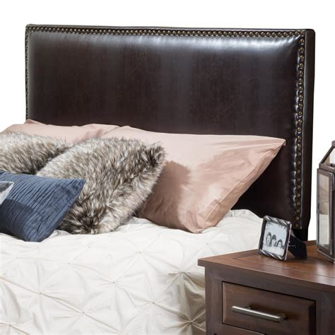Leather Headboards For King Beds by Noble House Brown Leather King Cal King Headboard