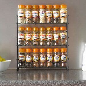 Free Standing Spice Rack by Black 3 Tier Free Standing Spice Rack Jar Holder For