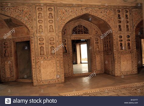 palace interior   red fort agra india aka lal