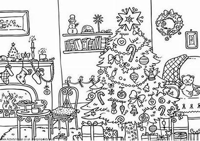 Coloring Christmas Pages Adults Decorations